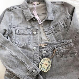NWT CAbi Two Piece Denim Jacket and Jeans Set